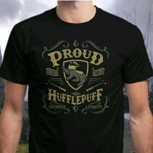 NEW Mens L Harry Potter Proud Hufflepuff Black Tee